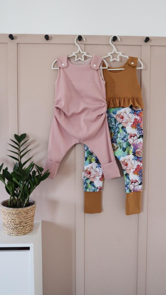 Adjustable cotton rompers
